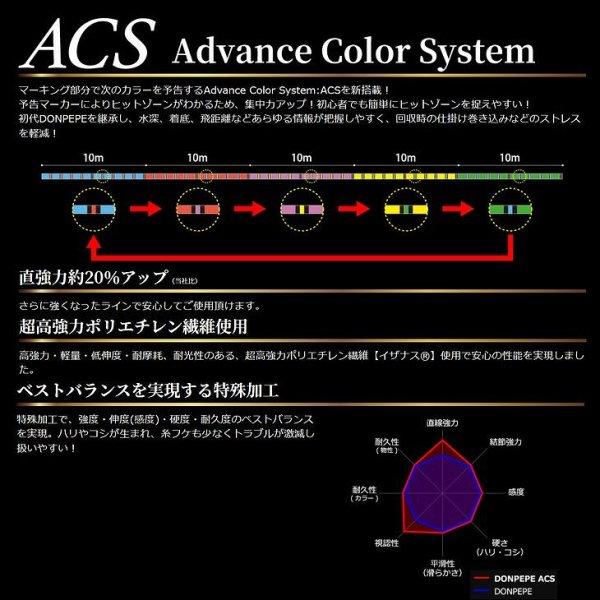 画像2: ゴーセン PE ドンペペ ACS 0.6号 12LB 300m 5色分け 日本製 国産PEライン