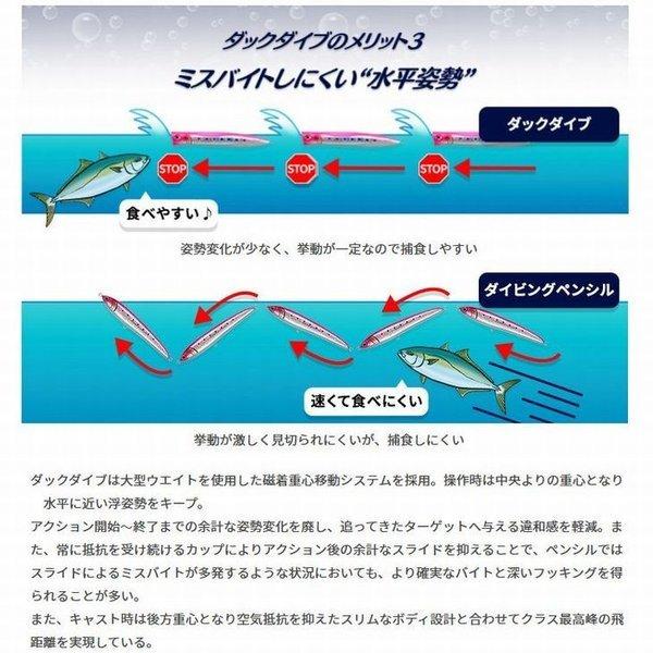 画像5: (25%引) マリア ダックダイブ F 230 95g ヒラマサ 青物 大物 海外向き ソルトルアー スリムポッパー ヤマリア ヤマシタ YAMARIA YAMASHITA