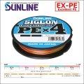 サンライン SIGLON PE×4ブレイド 0.6号(10LB)〜2号(35LB) 150m巻 3個セット 合計450m マルチカラー 5色分け シグロン PEx4 国産 日本製PEライン